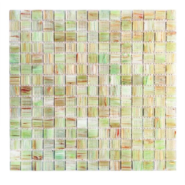 Bon Appetit 0.75 x 0.75 Glass Mosaic Tile in Light Green by Abolos