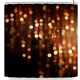 Deals Susan Sanders Copper Gold Glitter Lights Shower Curtain By East Urban Home