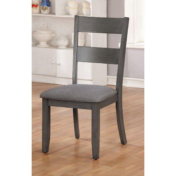 Arispe Upholstered Ladder Back Side Chair in Gray (Set of 2) by Gracie Oaks Gracie Oaks