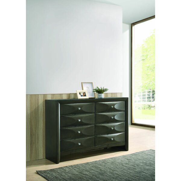 Bohrer 8 Drawer Double Dresser by Red Barrel Studio