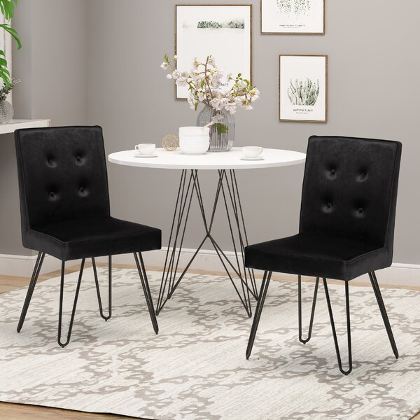Poteet Upholstered Dining Chair (Set of 2) by Everly Quinn