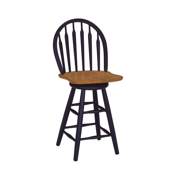 Barberton 24.75 Swivel Bar Stool by Darby Home Co