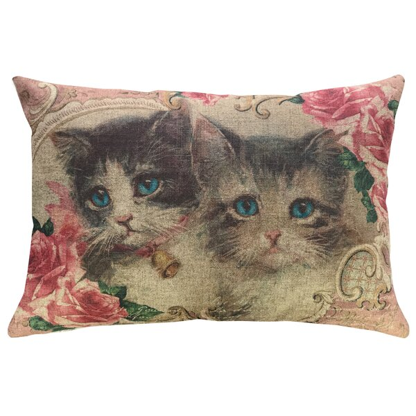 Willer Cat Lady Linen Throw Pillow by Winston Porter