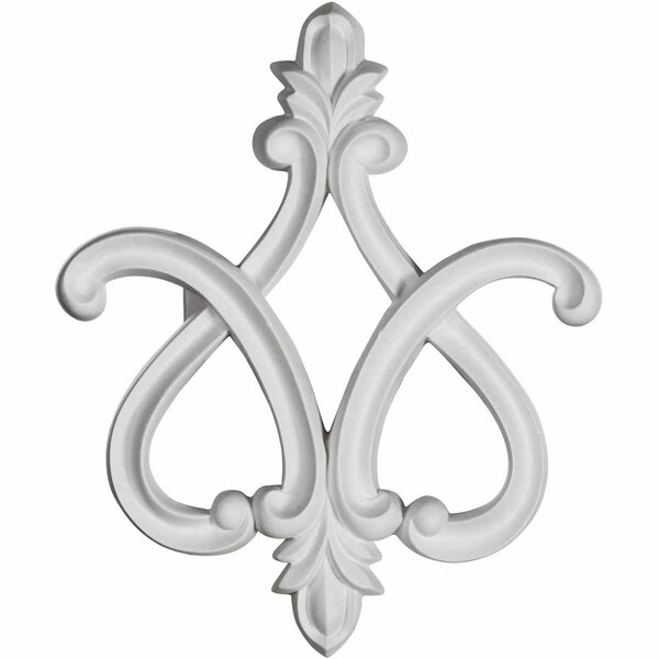Fleur-de-lis 11.88 H x 9.88 W x 1.88 D On Lay Scroll by Ekena Millwork