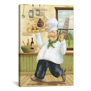 Happy Chef II by Daphne Brissonnet Painting Print on Canvas by iCanvas