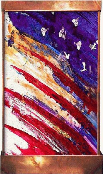 Galaxy Acrylic/Metal Flag Fountain by Harvey Gallery
