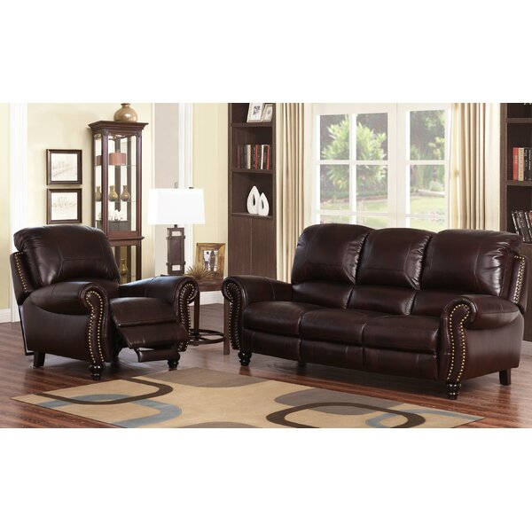 Tanguay 2 Piece Leather Living Room Set by Williston Forge