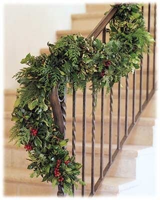 Fresh Holly Garland by The Holiday Aisle