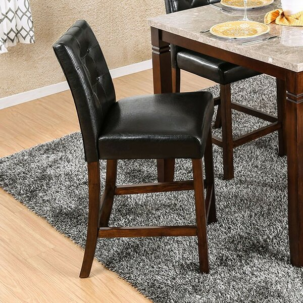 Mirfield Counter Height Upholstered Dining Chair (Set of 2) by Fleur De Lis Living