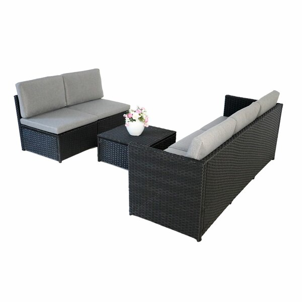Azzam 4 Piece Sofa Seating Group With Cushions By Latitude Run