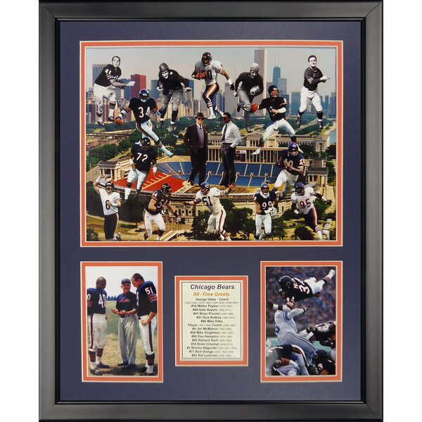 NFL Chicago Bears - Bear Greats Framed Memorabili by Legends Never Die