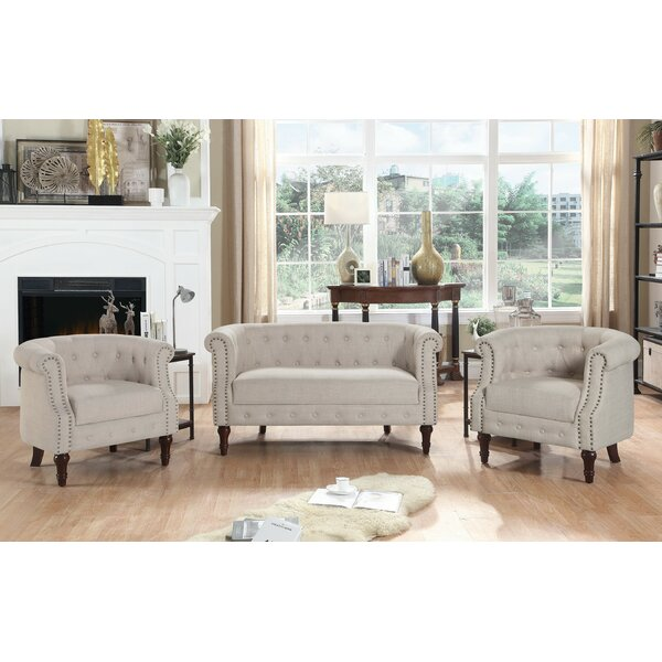 Kelty 3 Piece Standard Living Room Set By Alcott Hill®