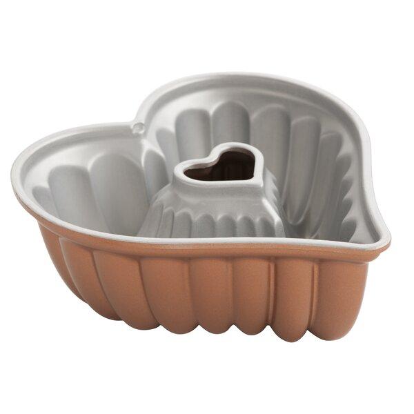 Platinum Elegant Heart Bundt Pan by Nordic Ware