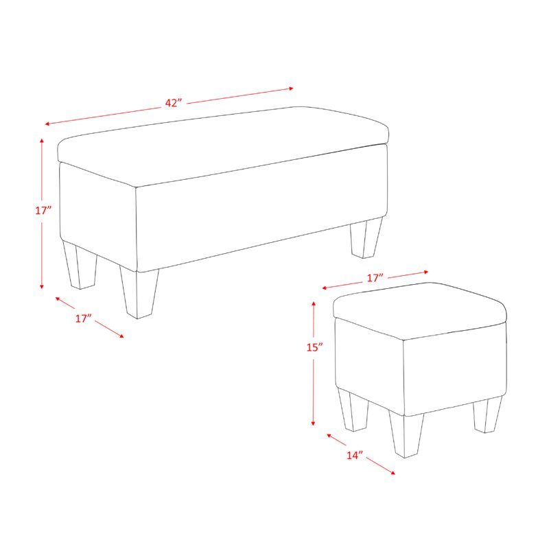 Cool Hirsh 3 Piece Storage Ottoman Set Gmtry Best Dining Table And Chair Ideas Images Gmtryco