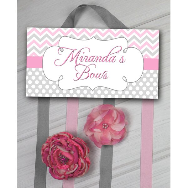 Chevron Personalized Hair Bow Holder by Toad and Lily