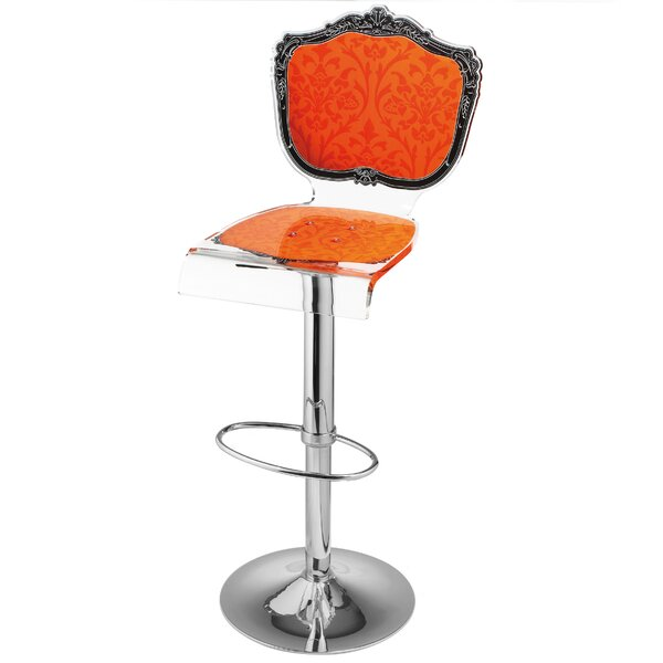 Marley Adjustable Height Swivel Bar Stool by Everly Quinn