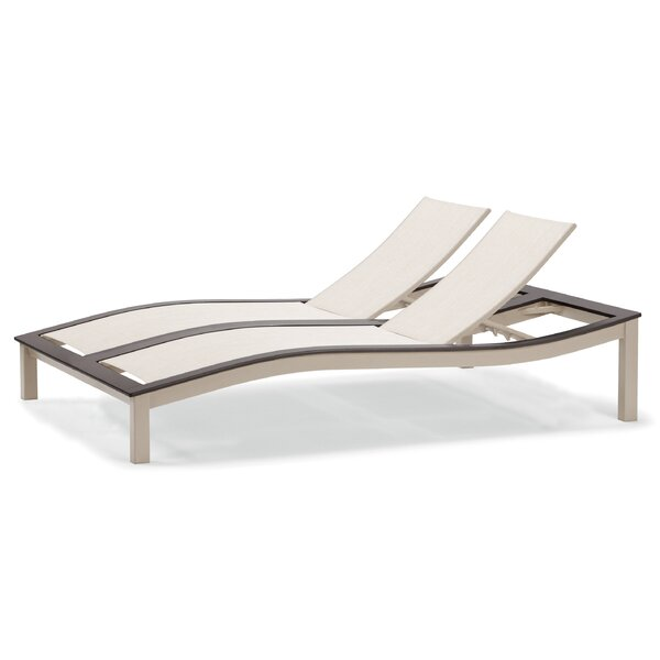Bazza Double Reclining Chaise Lounge by Telescope Casual