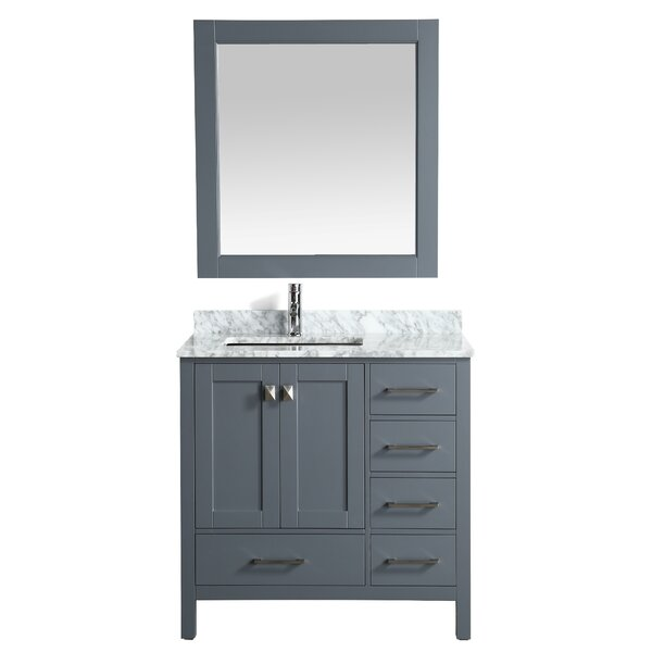 London Hyde 36 Single Bathroom Vanity with Mirror by dCOR designLondon Hyde 36 Single Bathroom Vanity with Mirror by dCOR design