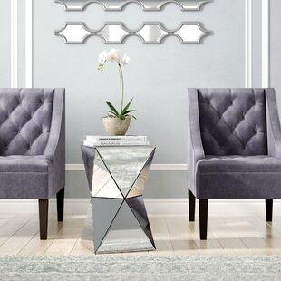 Conrad Mirrored Accent End Table