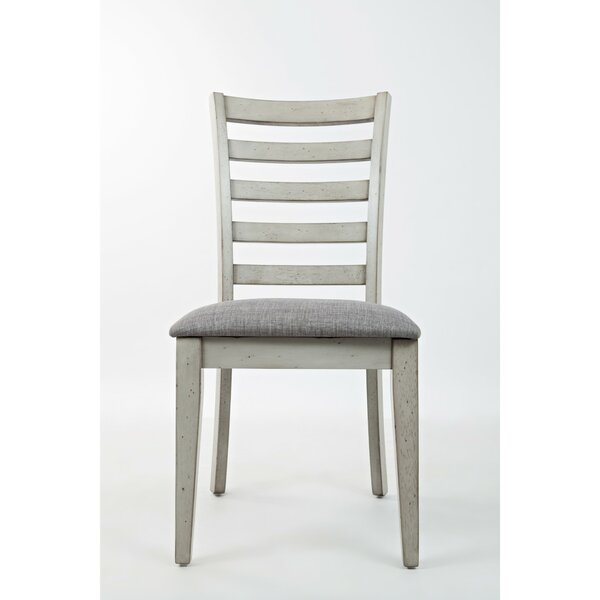 Julius Ladder Back Upholstered Dining Chair (Set of 2) by Longshore Tides
