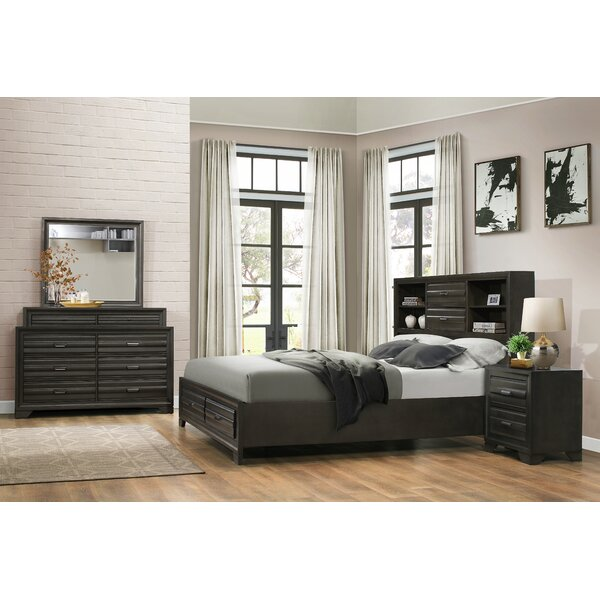 Loiret Wood 4 Piece Bedroom Set by Roundhill Furniture