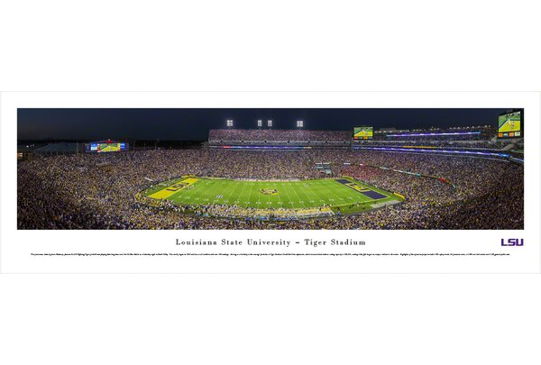 NCAA Louisiana State University by James Blakeway Photographic Print by Blakeway Worldwide Panoramas, Inc