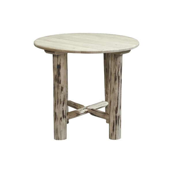 Tustin Round Solid Wood Dining Table by Loon Peak