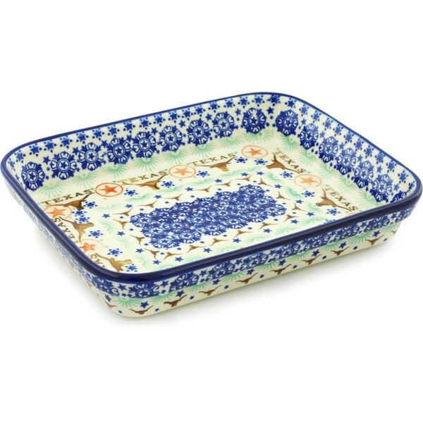 Texas State Rectangular Non-Stick Polish Pottery Baker by Polmedia