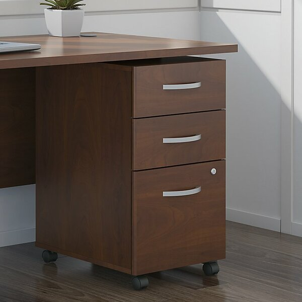 Series C Elite Pedestal 3 Drawer Mobile Vertical File by Bush Business Furniture