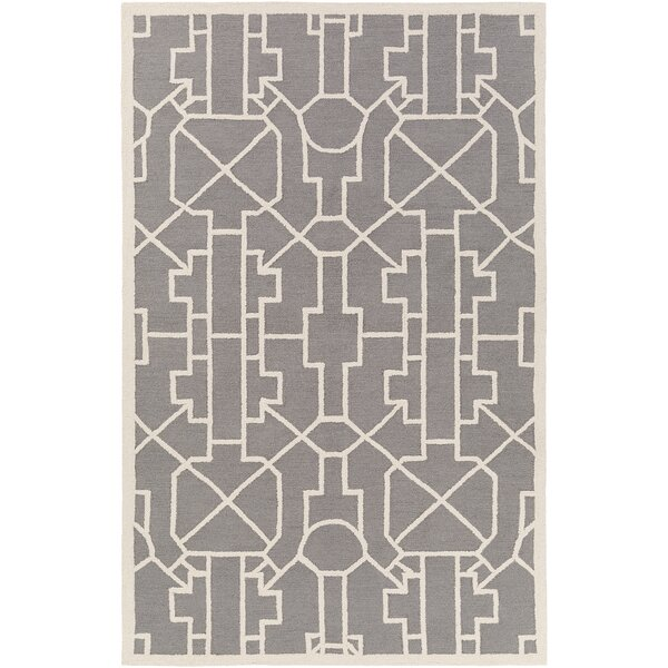 Salamanca Hand-Crafted Gray Area Rug by Mercer41