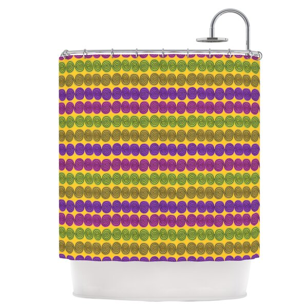 Shells Shower Curtain by East Urban Home