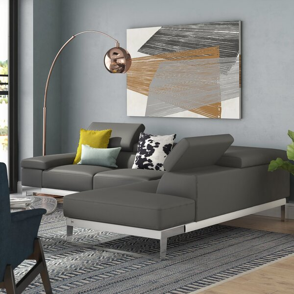 Callensburg Leather Sectional by Wade Logan