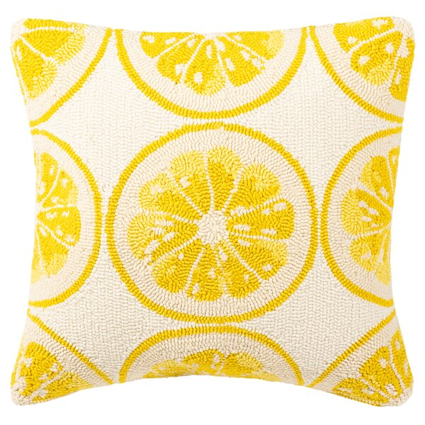 Deaton Lemon Squeeze Outdoor Throw Pillow by Wrought Studio