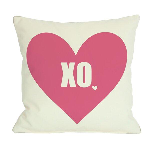 XO Heart Throw Pillow by One Bella Casa