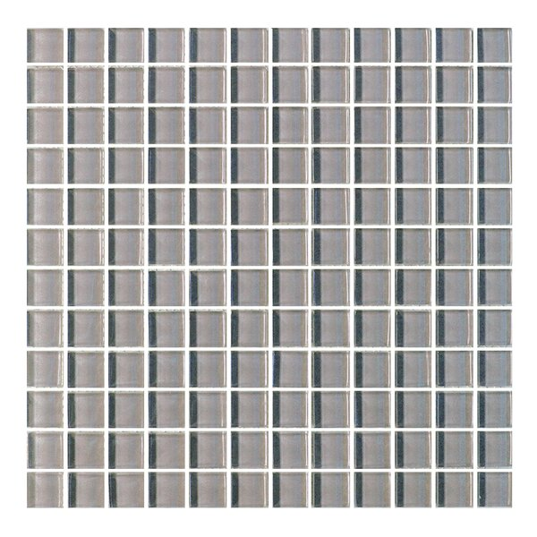 Metro 1 x 1 Glass Mosaic Tile in Dark Gray by Abolos
