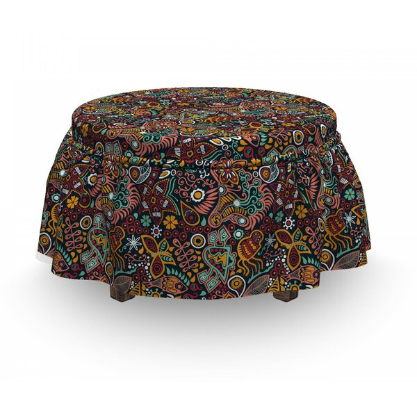 Spring Blossoms Ottoman Slipcover (Set Of 2) By East Urban Home