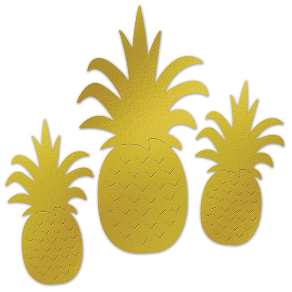 Foil Pineapple Silhouette Standup (Set of 18) by The Beistle Company