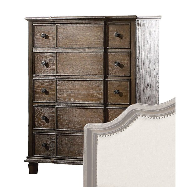 Burgan 5 Drawer Standard Chest by Ophelia & Co.