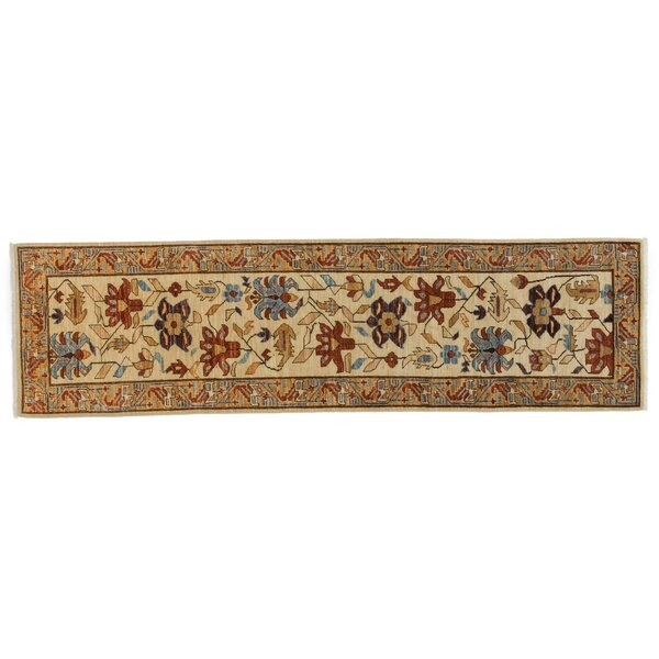 One-of-a-Kind Serapi Hand-Knotted Beige Area Rug by Darya Rugs