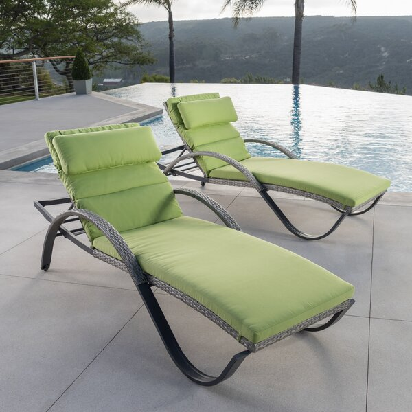 Castelli Sun Lounger Set with Cushions (Set of 2)