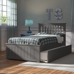 Inexpensive Piper Twin Platform Bed with Trundle ByViv + Rae