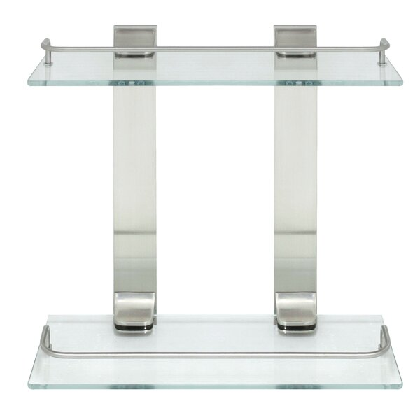 Double Glass 13.75 Wall Shelf by Modona