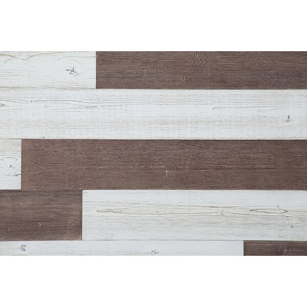 5 Solid Wood Wall Paneling in Old Brown/White by WoodyWalls