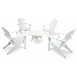 Artisan Shell Back 5-Piece  Adirondack Conversation Set By Ivy Terrace