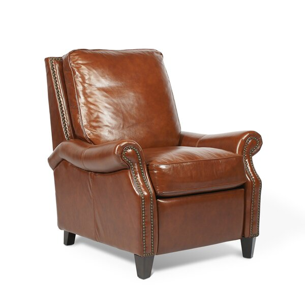 Velden Leather Manual Recliner by Canora Grey