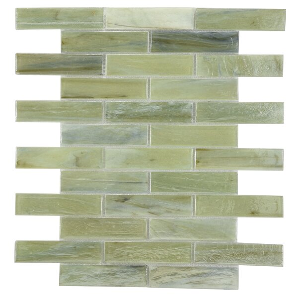 Laguna Glass Mosaic Tile in Taupe by Byzantin Mosaic