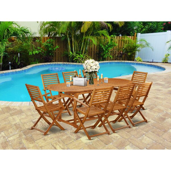 Stephon 9 Piece Patio Dining Set by Longshore Tides