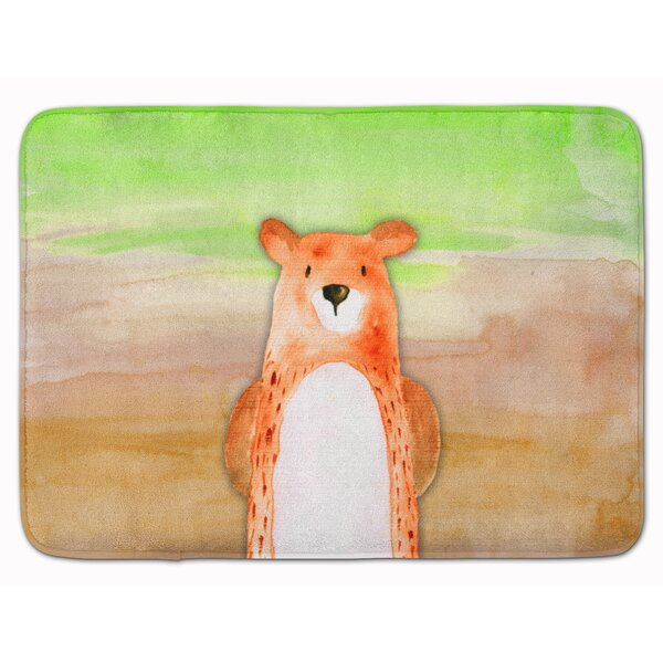 Bear Watercolor Memory Foam Bath Rug by East Urban Home