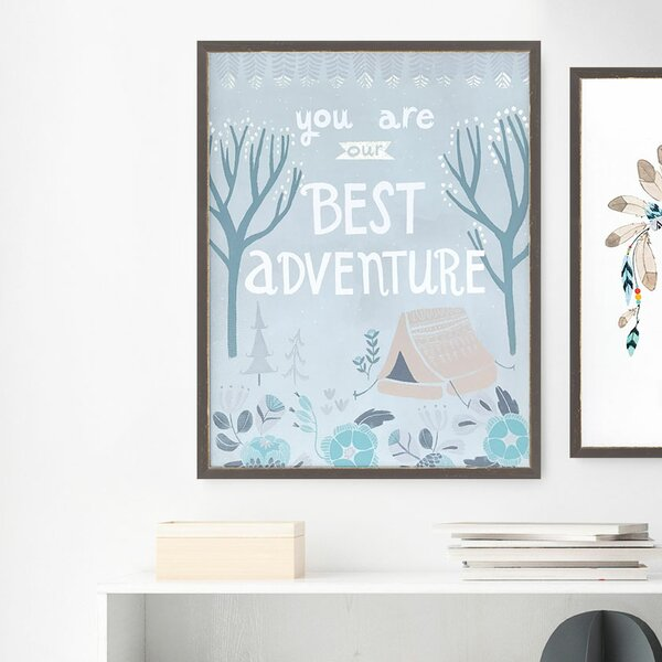 Algarve You are Our Best Adventure Rectangle Embellished Stretched Framed Canvas Art by Harriet Bee