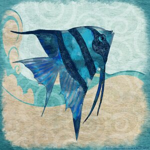 'Fish Angel II' by Jill Meyer Framed Graphic Art on Wrapped Canvas by Buy Art For Less